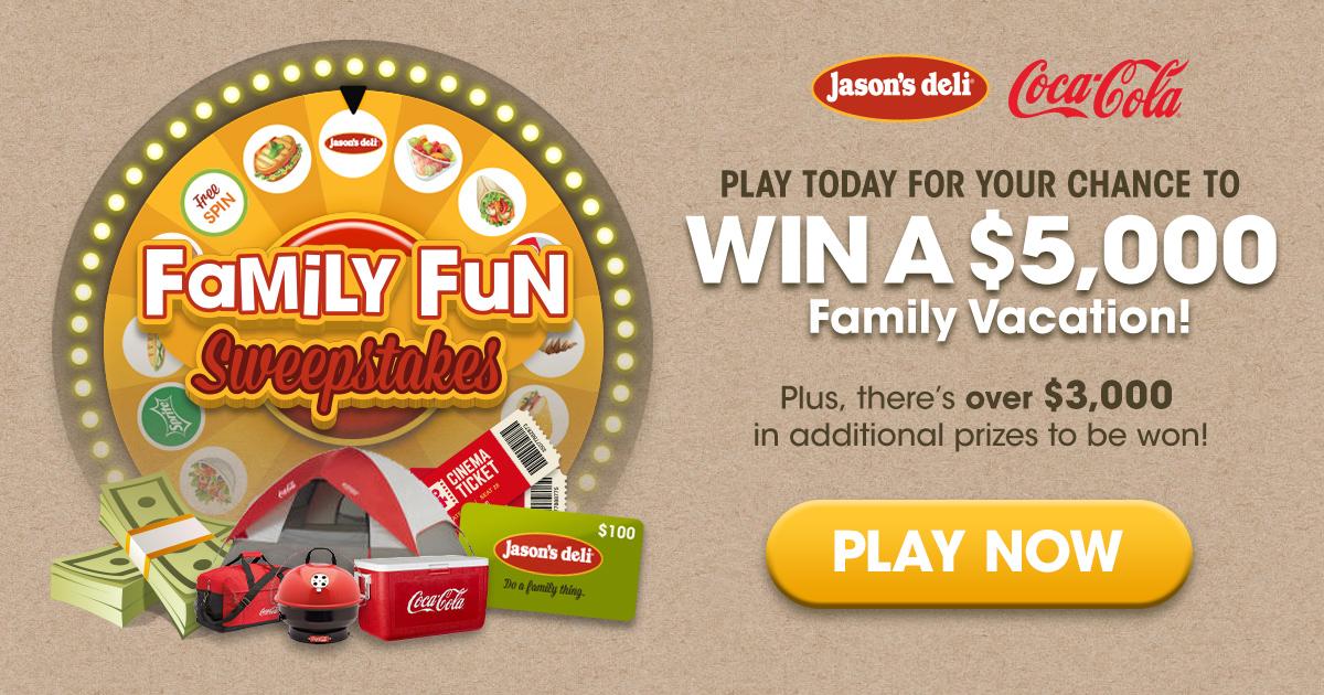 Jason's Deli Family Fun Sweepstakes